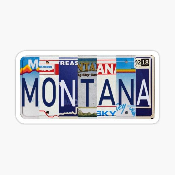 Montana License Plates  Sticker