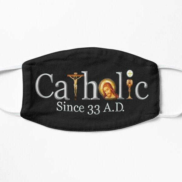 Catholic Since 33 AD T-Shirt Jesus Crucifix Eucharist Mass 2001 black Mask