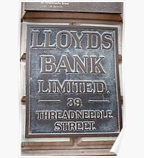 Lloyds Bank limited Sign Poster