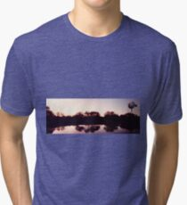 Windmill sunset Tri-blend T-Shirt