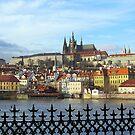 Prague - skyline with Castle district by bubblehex08