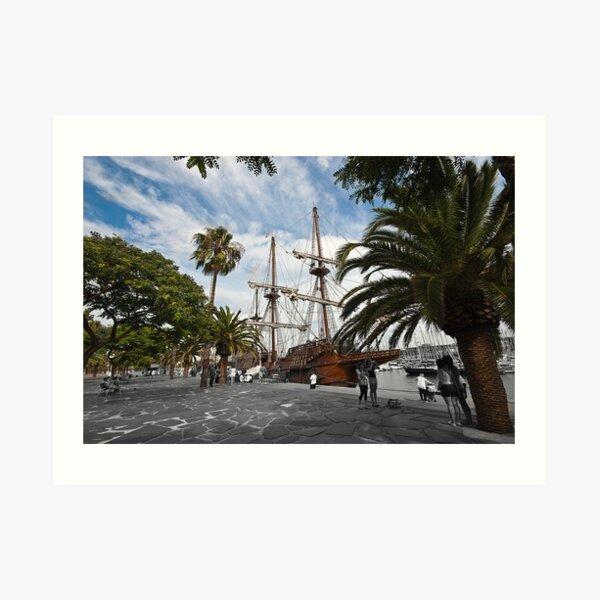 Nao Victoria - Marina Port Vell, Barcelona Art Print