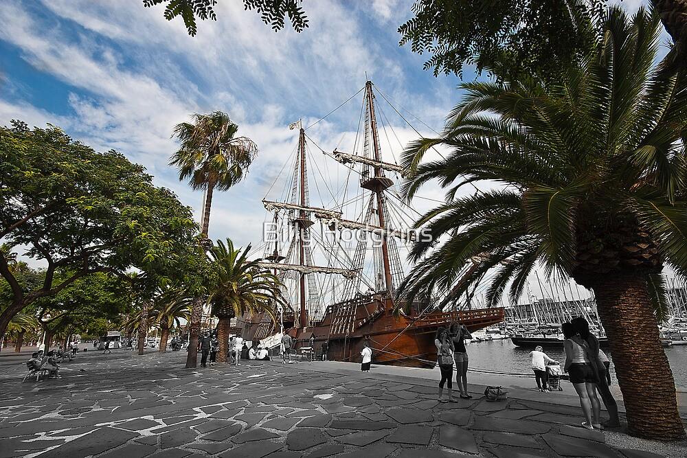 Nao Victoria - Marina Port Vell, Barcelona by Billy Hodgkins