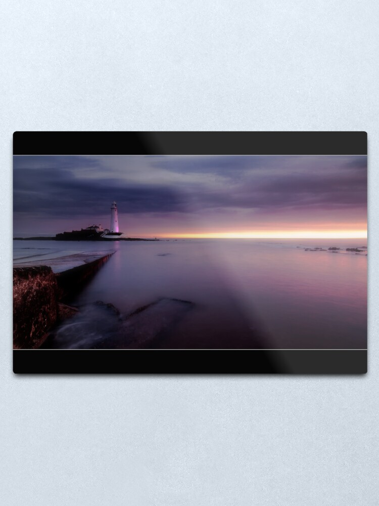 Alternate view of St Mary's Lighthouse Metal Print