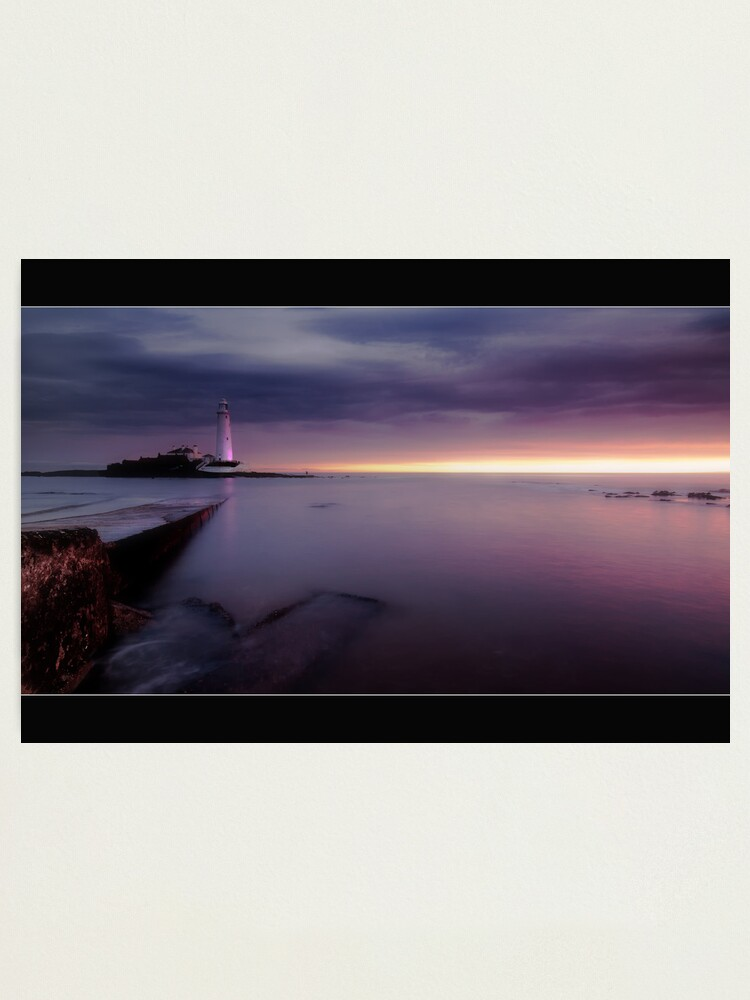 Alternate view of St Mary's Lighthouse Photographic Print