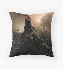 The darkness inside Throw Pillow