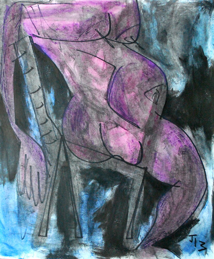 Pregnant Woman on Chair by Joshua Bell