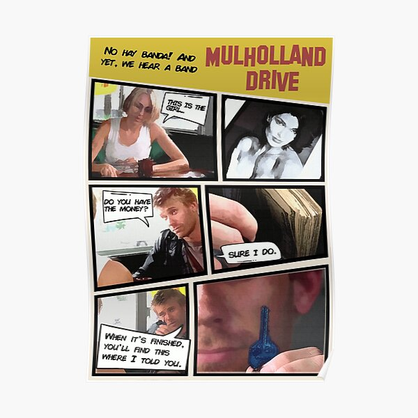 Affiche de Mulholland Drive Retro Comic Style Poster