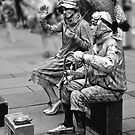 Street performers by Andrea Rapisarda