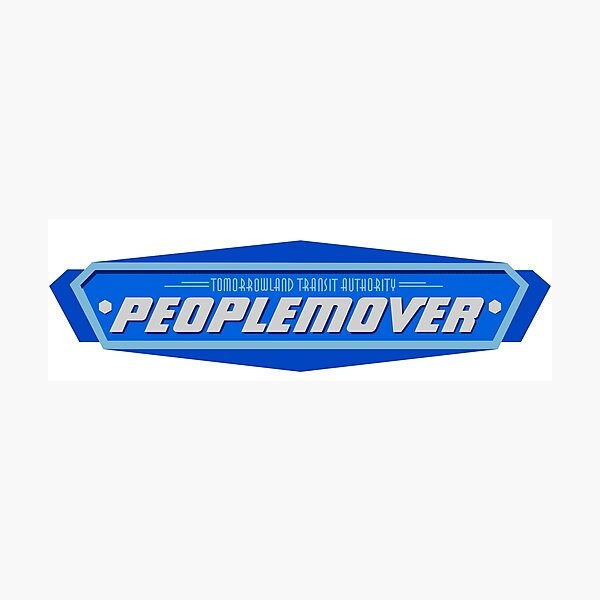 Epcot PeopleMover Sign Photographic Print