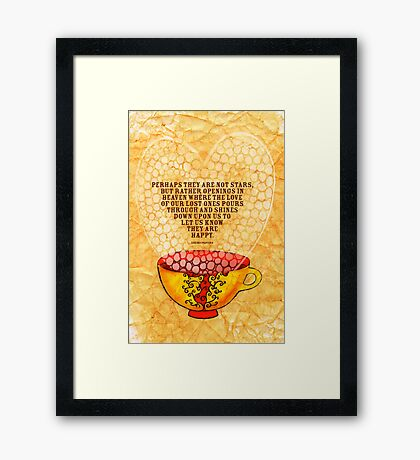 What my Coffee says to me -  January 6th, 2013 Framed Print