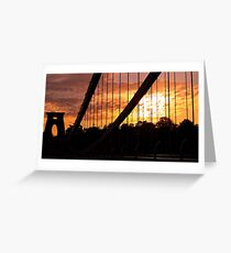 Suspended Sunset Greeting Card