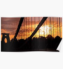 Suspended Sunset Poster
