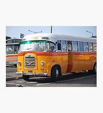 Malta Bus Photographic Print
