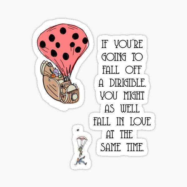 Dirigible Love Sticker