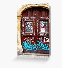 Graffiti, Zagreb, Croatia Grußkarte