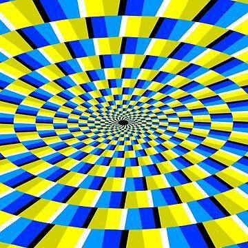 trippy black hole op art by closeddoor