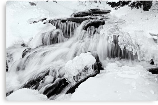 Winter Snow Melt by Jeffrey  Sinnock