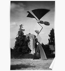Latton Church and Sculpture  Poster