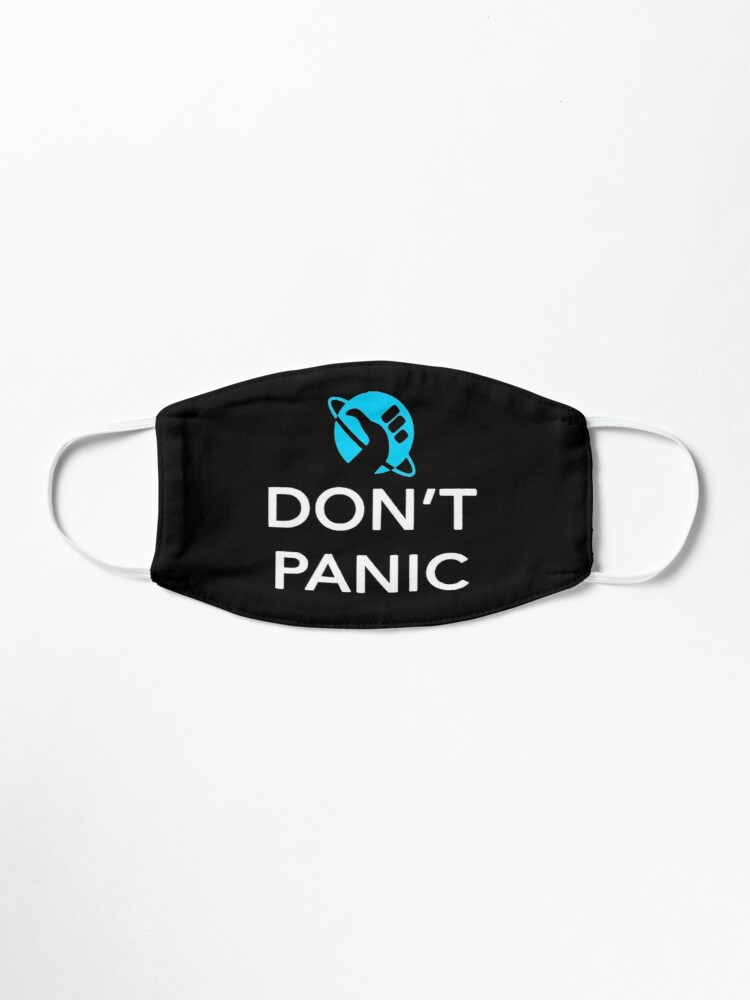 Alternate view of Just Don't Panic Hitchhiker's Guide to the Galaxy Mask