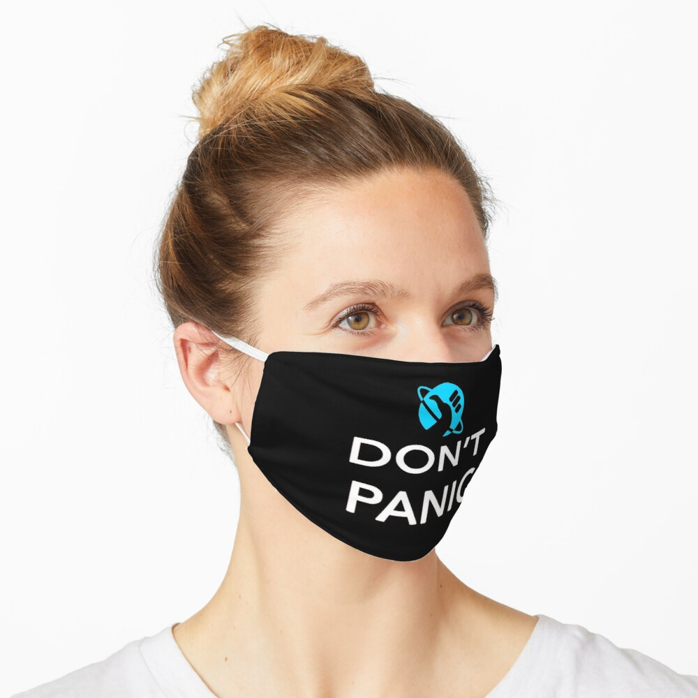 Just Don't Panic Hitchhiker's Guide to the Galaxy Mask
