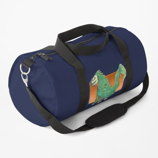 Feathery green creature Duffle Bag