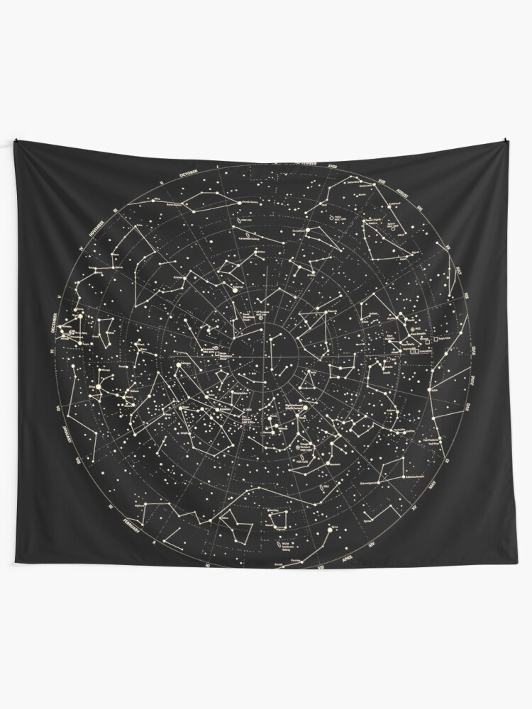 Alternate view of Astronomy Constellations Stars Galaxy Universe  Tapestry
