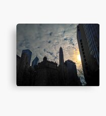 City Clouds Canvas Print