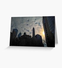 City Clouds Greeting Card
