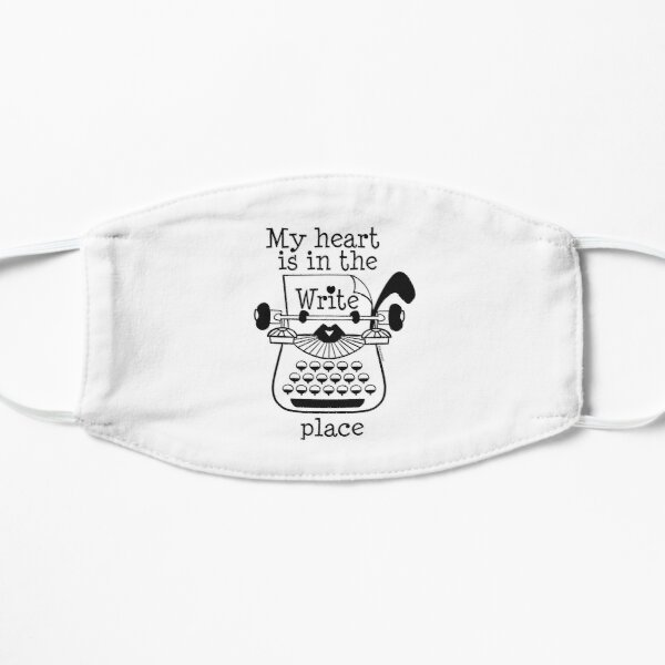 My Heart is in the Write Place Mask