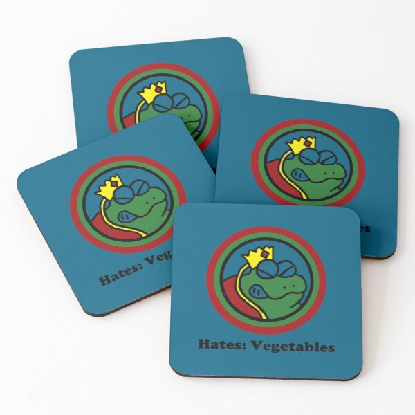 Hates: Vegetables Coasters (Set of 4)