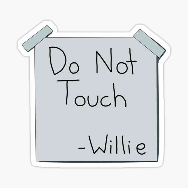 Do Not Touch Willie The Simpsons  Sticker