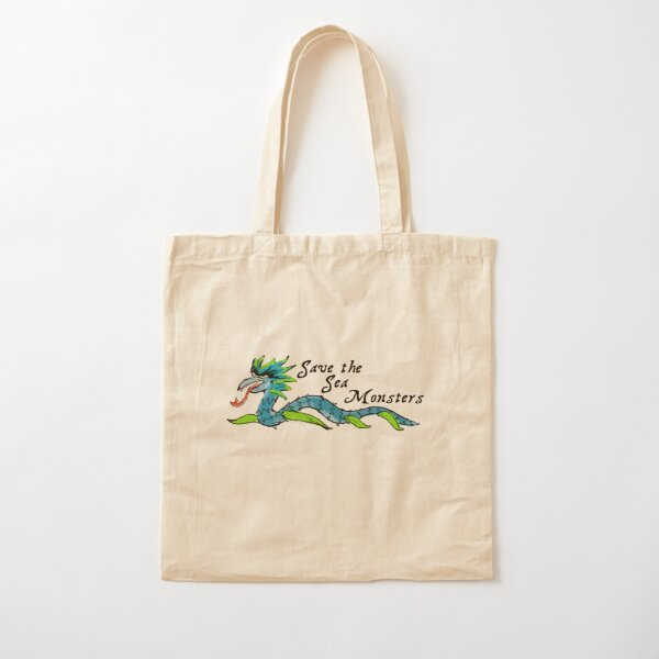 Save the Sea Monsters Cotton Tote Bag