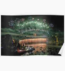 We Will Rock You ! # 2 - Sydney Harbour NYE  Fireworks Poster