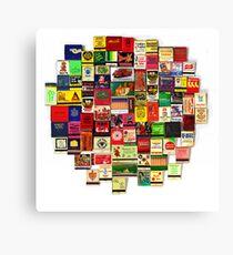 """82 Matchbooks"" Canvas Print"