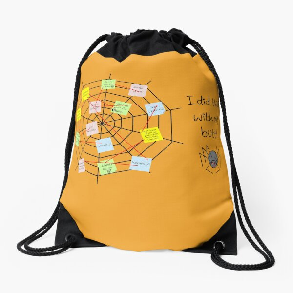 I Did This With My Butt! Drawstring Bag