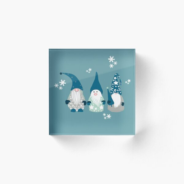 Trio of Gnomes  Acrylic Block