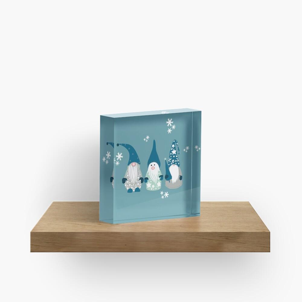 Trio of Gnomes  Acrylic Block