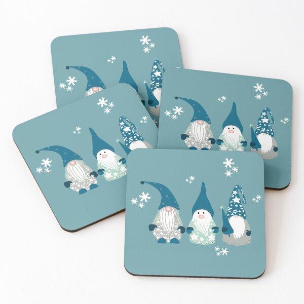 Trio of Gnomes  Coasters (Set of 4)
