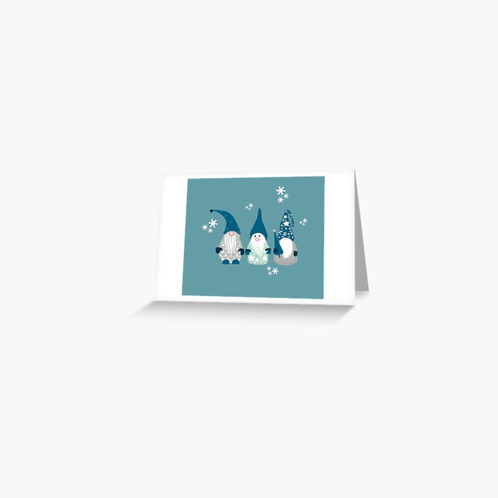 Trio of Gnomes  Greeting Card