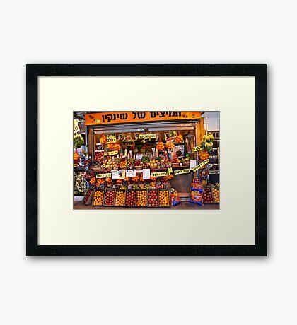 Fruit Vendor - Tel Aviv Framed Print