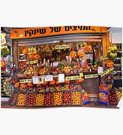 Fruit Vendor - Tel Aviv Poster