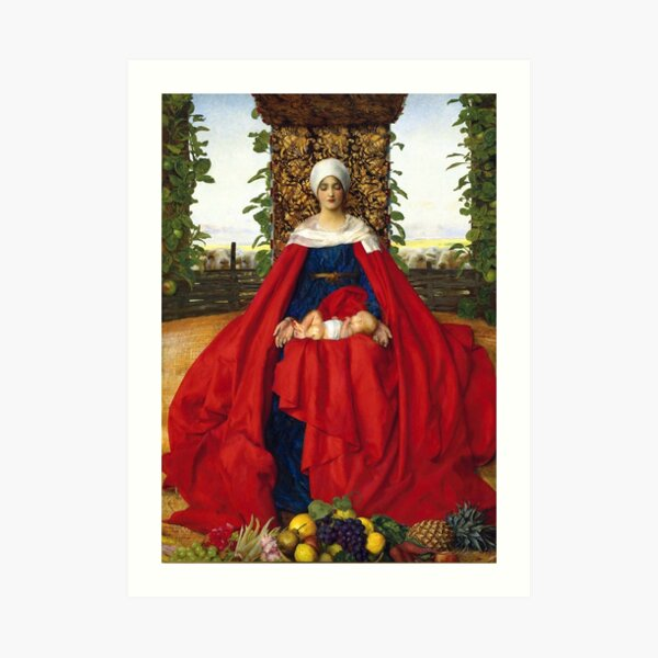 Our Lady of the Fruits of the Earth - Frank Cadogan Cowper Art Print