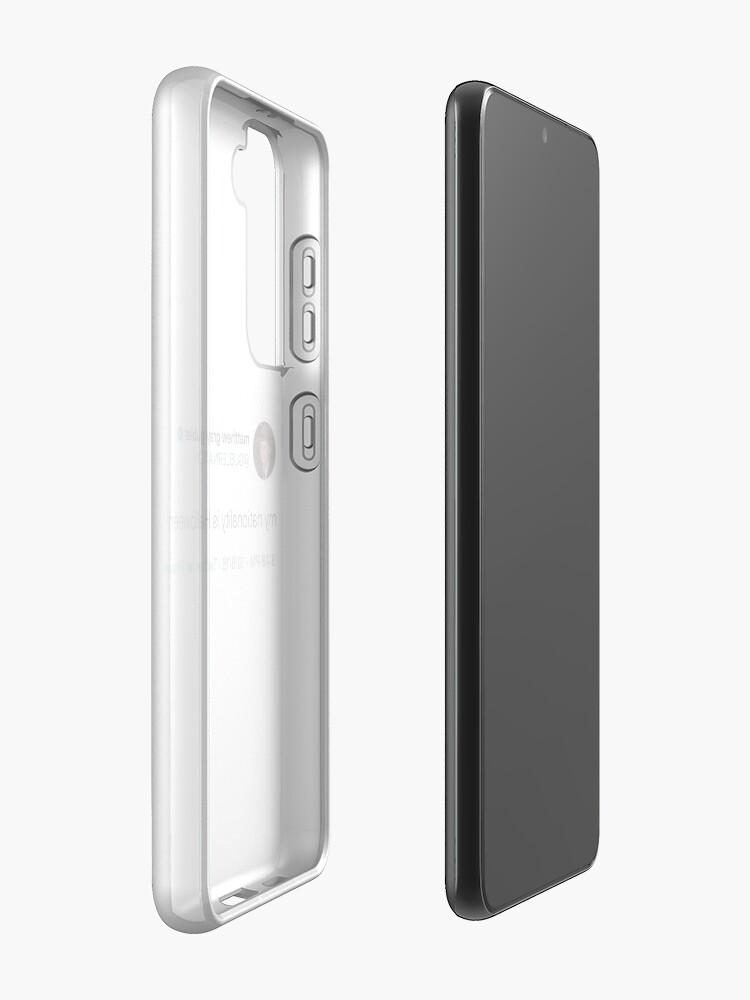 Alternate view of matthew gray gubler tweet Case & Skin for Samsung Galaxy