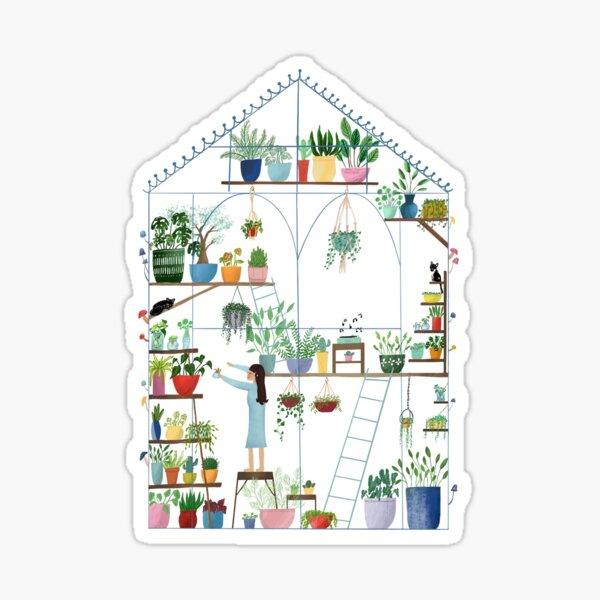 Greenhouse with Plants sticker Sticker