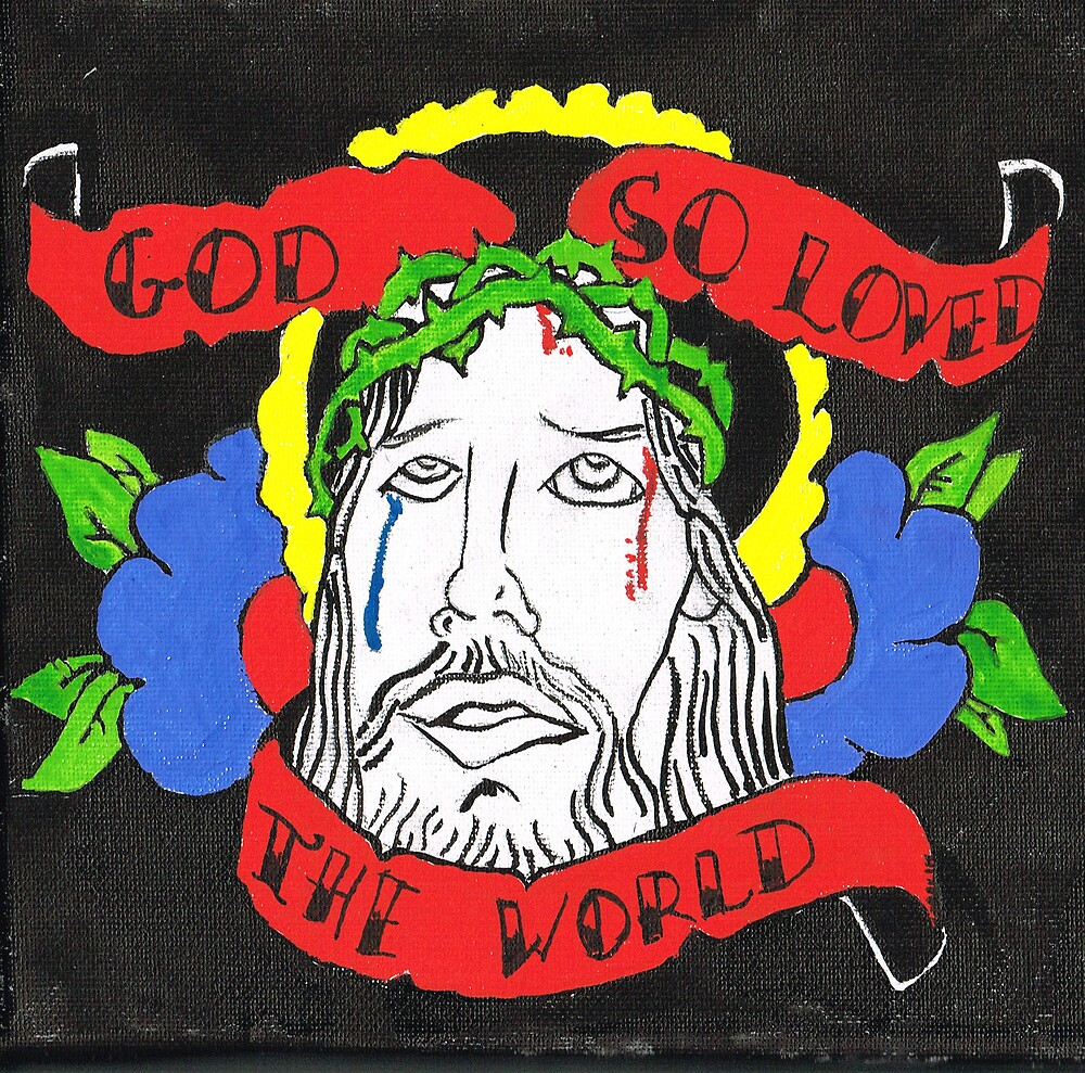 God so loved the world by ziondesign