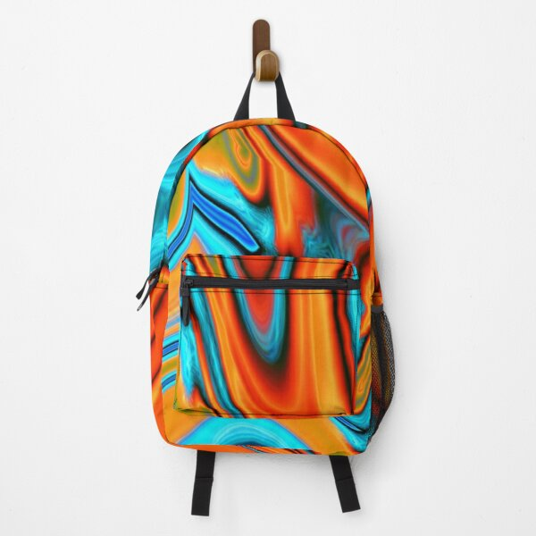 vivid modern Southwest hipster turquoise orange swirls Backpack