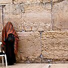 A Woman At The Western Wall by Mary Ellen Garcia