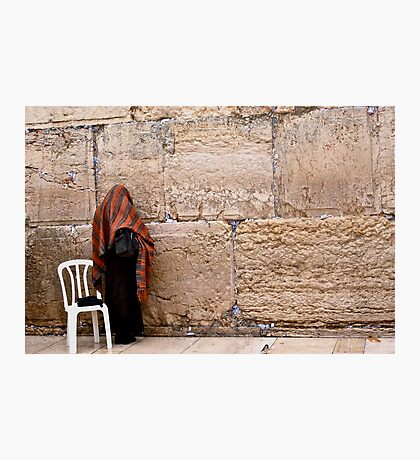 A Woman At The Western Wall Photographic Print