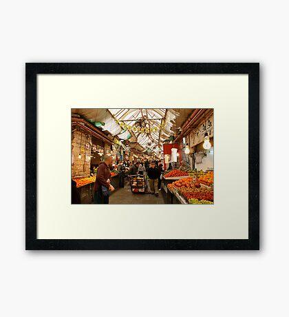 The Market Place - Tel Aviv Framed Print